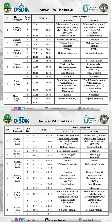 JADWAL PAT 2020-2021