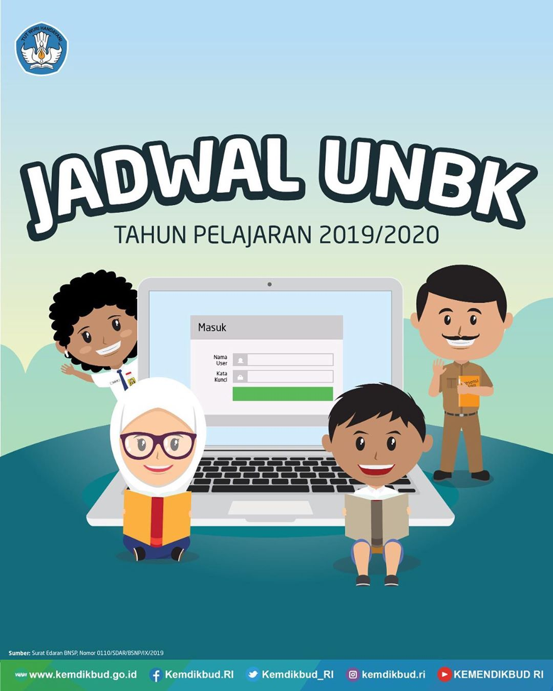 berikut jadwal ujian nasional (UN) tahun pelajaran 2019/2020
